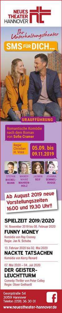 HA,KULT WEB Romantische Komödie mit Starbesetzung im Neuem Theater Theater Kultur